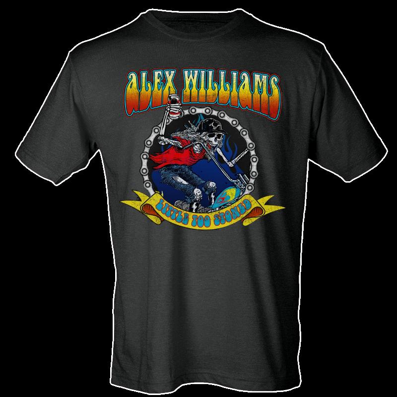 Alex Williams Black Skeleton Tee