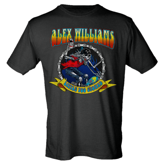 Alex Williams Black Skeleton Tee